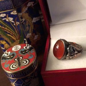"Jewelry - Vintage Estate ""Carnelian"" Sterling Silver Ring"